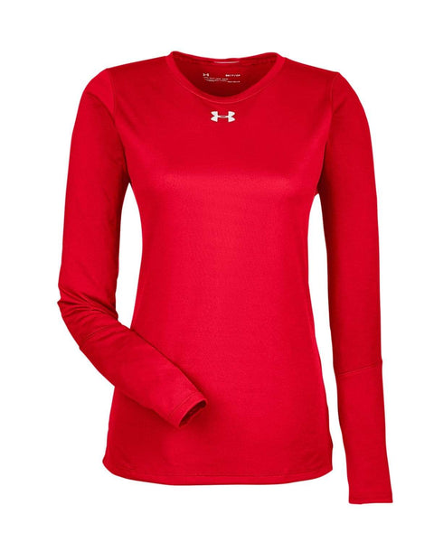 Under Armour T-shirts Xs / Red Under Armour - Ladies' Long-Sleeve Locker T-Shirt 2.0