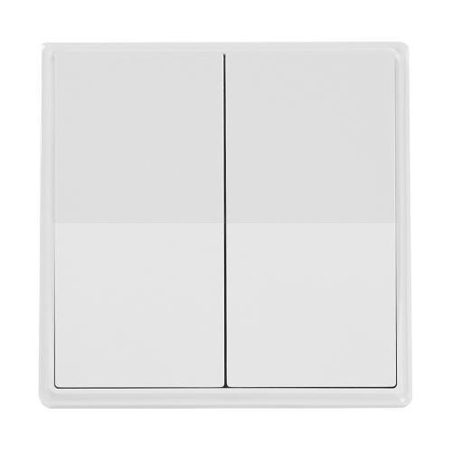 ENER-J Wireless 2 Gang Light Touch Switch - White
