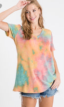 Load image into Gallery viewer, Orange Tie Dye V Neck