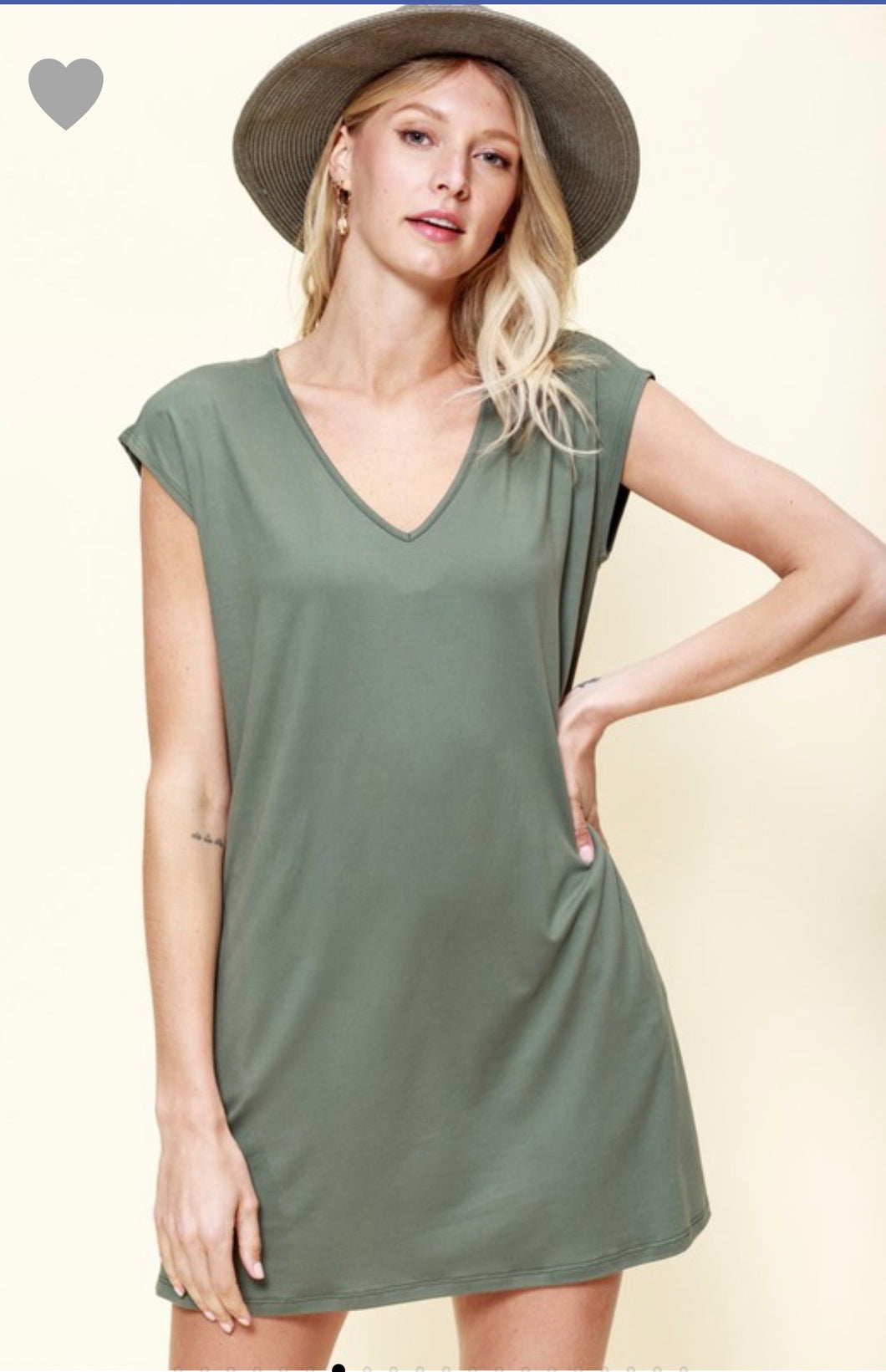 Army Dolman Tee Dress