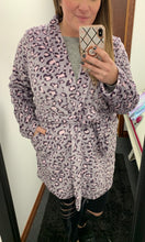 Load image into Gallery viewer, Gray & Blush Leopard Robe