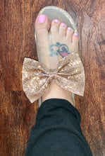 Load image into Gallery viewer, Rhinestone Bow Sandals NUDE