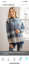 Load image into Gallery viewer, Stripe Water Color Double Hood Top