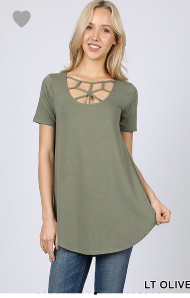 Olive Web Top