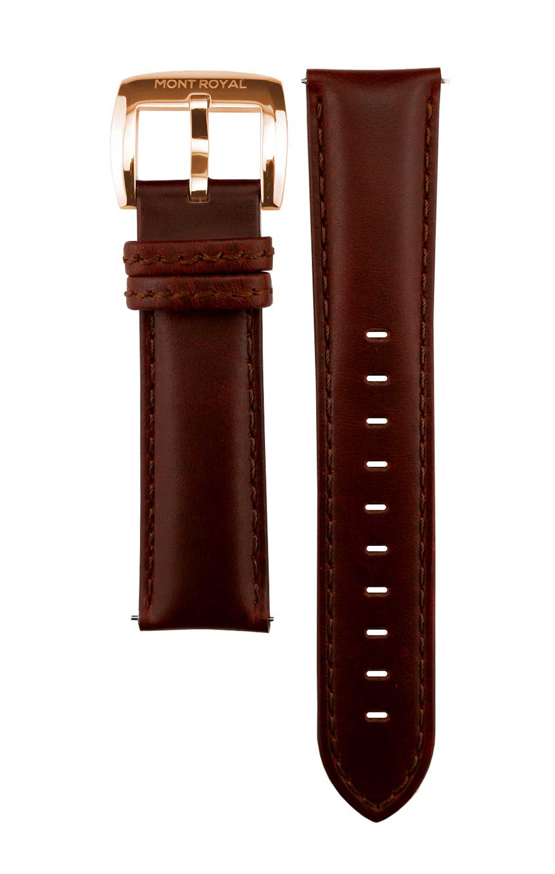 Brown Leather (Rose-Gold)