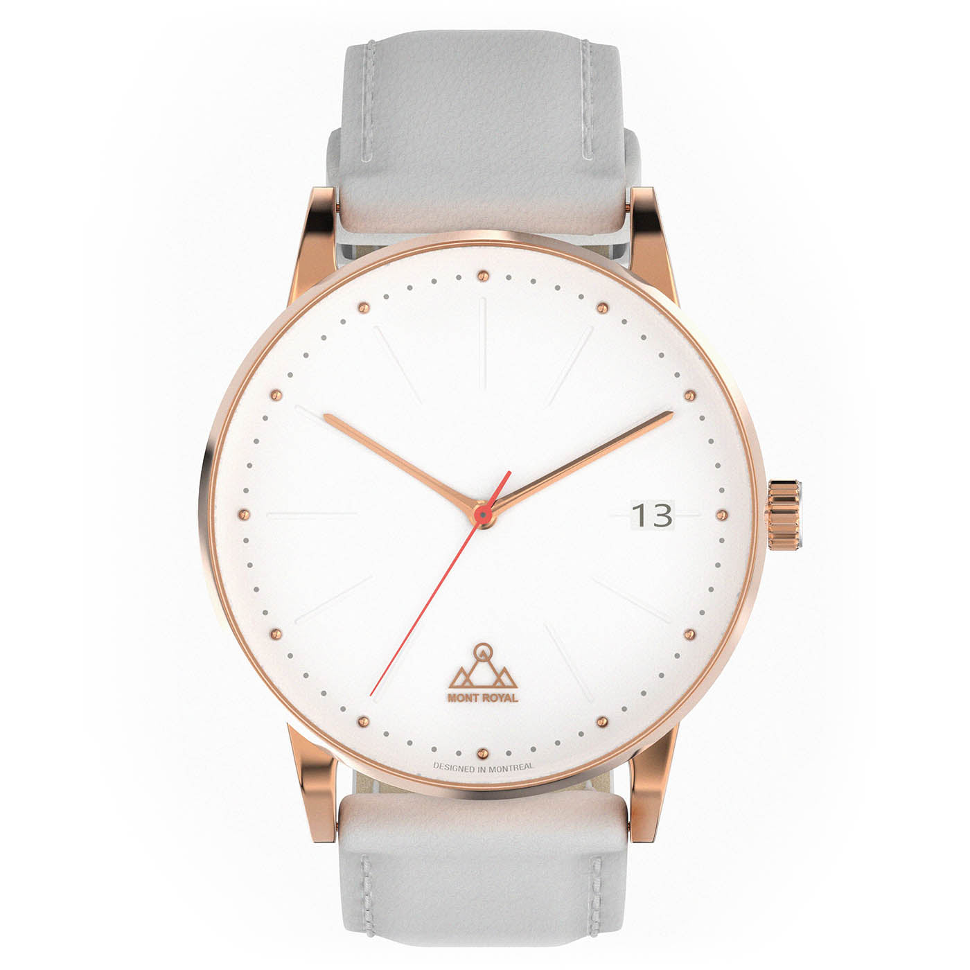 Coral + Pearl Leather Classic Watch