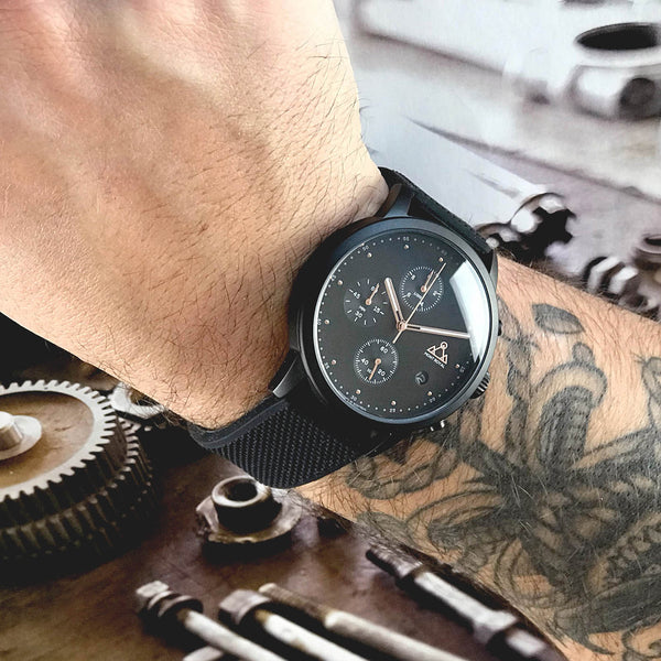 All Black + Silicone Chrono One Watch