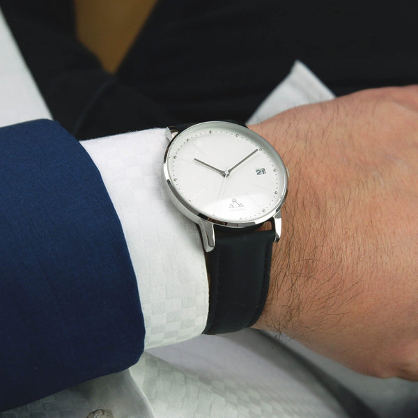 White Black Classic Chic Watch