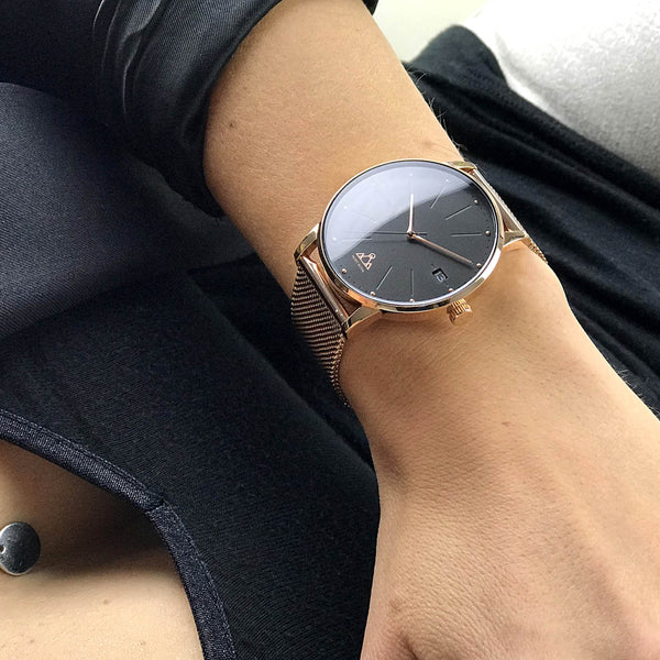 Rose-Gold Steel Classic Chic Watch