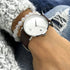 White Brown Classic Chic Watch