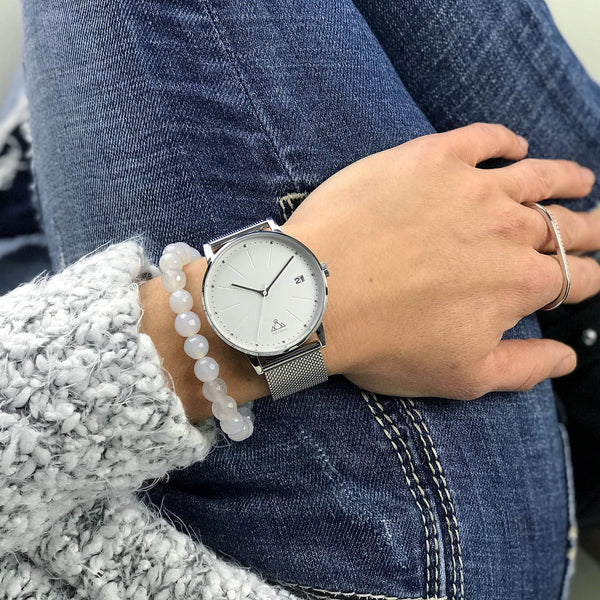 White Steel Classic Chic Watch