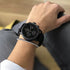 All Black + Leather Chrono One Watch