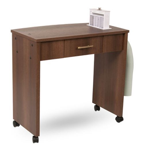 Ventable Space-Saving Manicure Table with Pop Up Source Capture