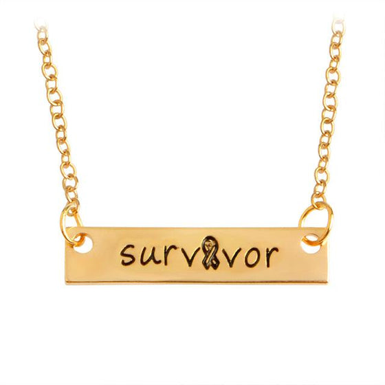 JEWELRY Gold Silver Color Engravedr Survivor Awareness