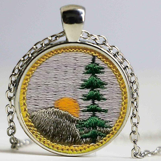 Freeshipping !!! Hiking NeckLaces Jewelry Glass Photo Cabochon