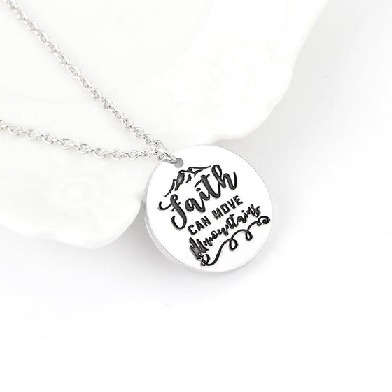 Freeship !!  Faith can move mountains necklaces