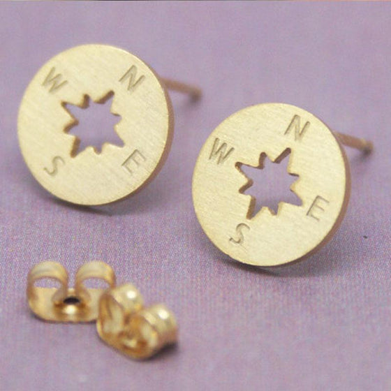 Hot earrings !  Compass earrings, best gift for hiker and beautiful hiking earrings !