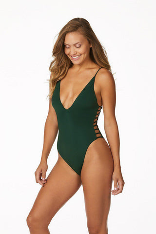 CHLOE ROSE WORK IT GIRL ONE PIECE IN RAILROAD STRIPE