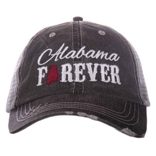 06e1a2ac205 Alabama Forever Distressed Trucker Hat~3 Colors