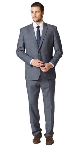 Gray birdseye suit