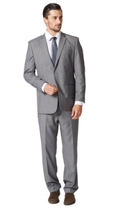Medium gray sharkskin suit