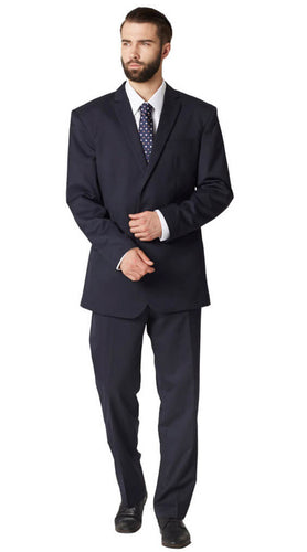 Deep indigo crossweave suit