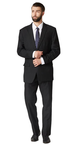 Black tonal plain suit