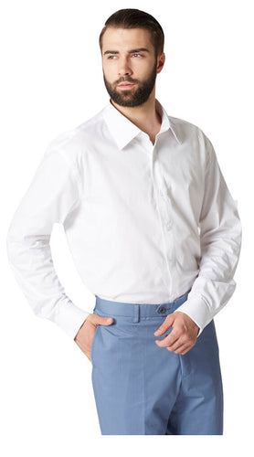White pinpoint shirt