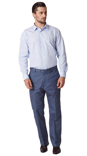 Blue cotton chinos