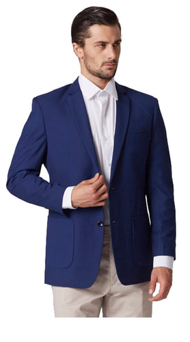 Blue plain jacket
