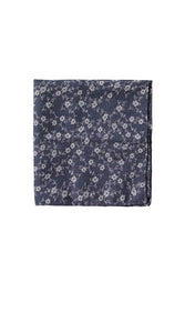 Blue patterned pocket square
