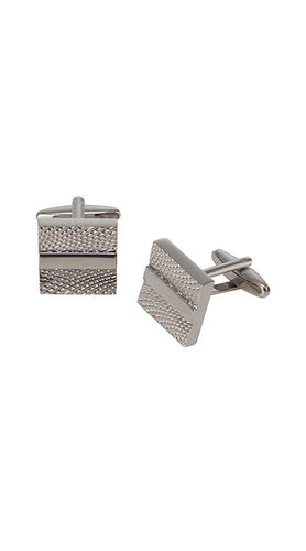 Square brushed cufflinks