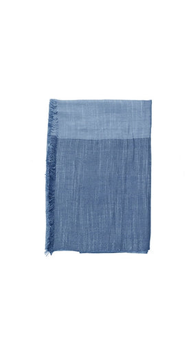 Blue cotton foulard