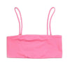 eco friendly pink bandeau bikini top