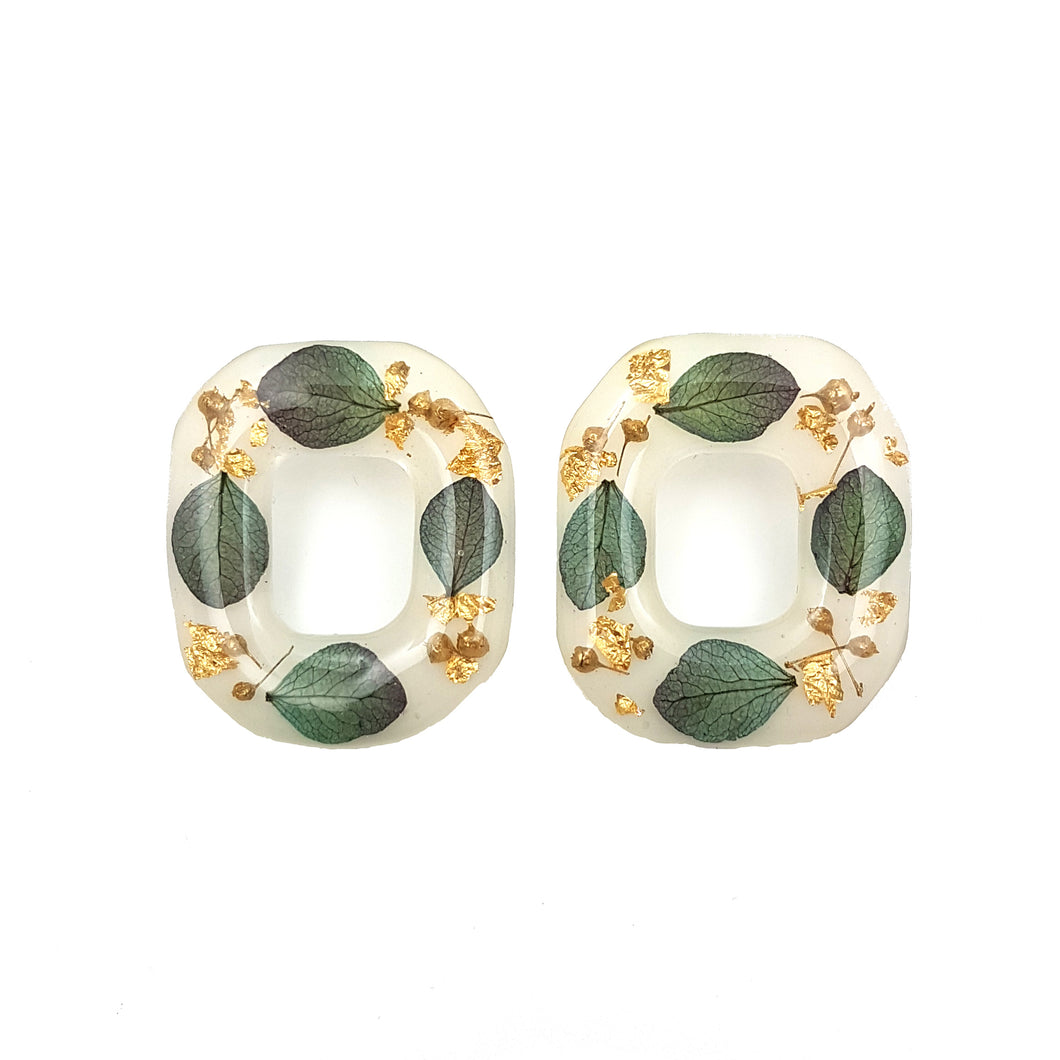 Flora Square Stud Earrings