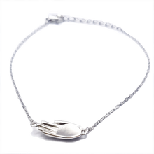 Antwerp Hand Bracelet - White Gold Plated