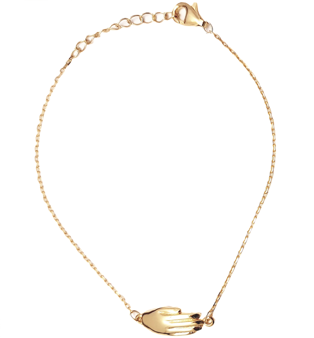Antwerp Hand Bracelet - Gold Plated