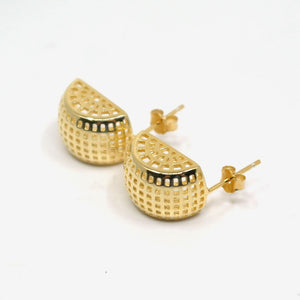 Coral Stud Earrings - Gold Plated