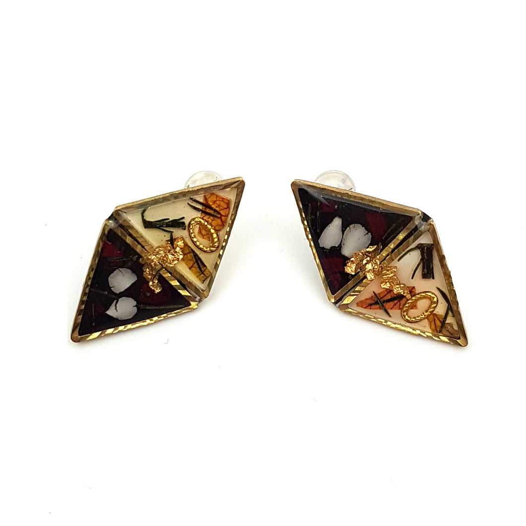 Flora Vintage Stud Earrings