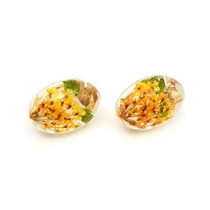 Flora Yellow Stud Earrings