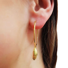 Antwerp Hand Hoop Earrings - Gold Plated - Big Hands