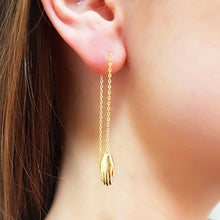 Antwerp Hand Chain Earrings - Gold Plated - Big Hands
