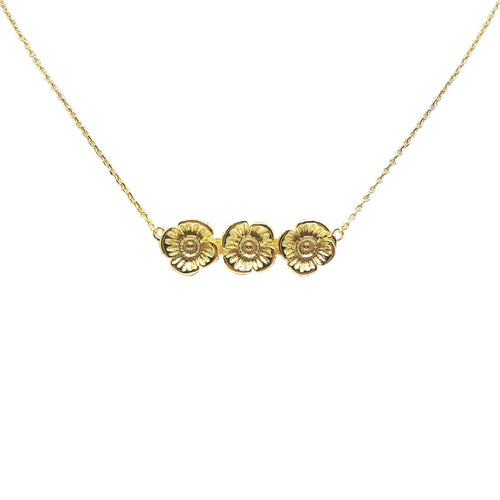 Poppy Necklace - Gold Plated