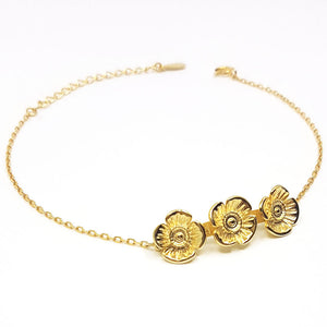 Poppy Bracelet - Gold Plated