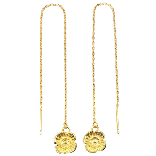 Poppy Chain Earrings - Gold Plated