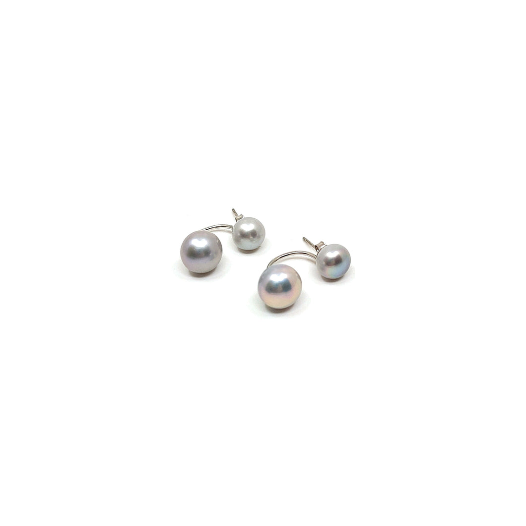 Pearl Earrings - Grey