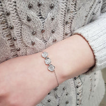 Poppy Bracelet - White Gold Plated