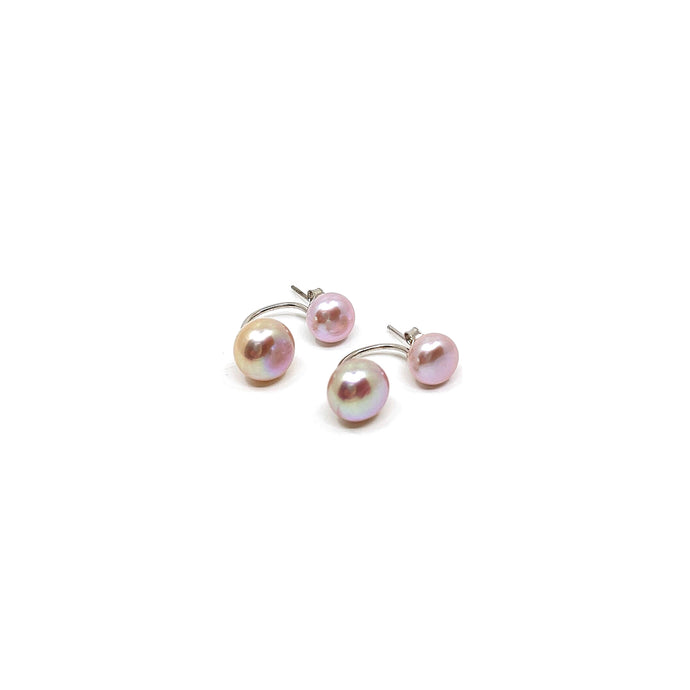 Pearl Earrings - Pink