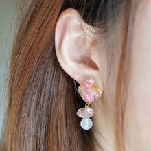 Flora Pink Quartz  Earrings