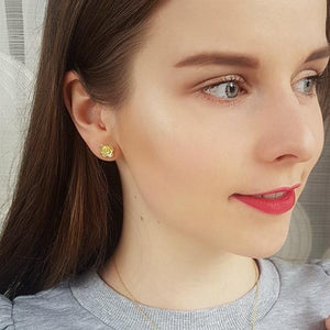 Poppy Studs Earrings -  Gold Plated